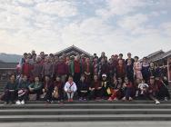 """我院组织离退休妇女同胞到青秀山开展庆祝""""三八""""国际妇女节活动"""